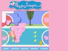 Peppa Pig Swimmingpool Puzzle Jogos Infantis No